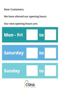 Opening Hours CSNA (2)